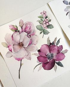 62 Ideas For Art Tattoo Design Watercolor Flowers Watercolor Water, Watercolor Cards, Watercolor Illustration, Watercolor Flowers, Watercolor Paintings, Drawing Flowers, Watercolors, Flower Drawings, Painting Flowers