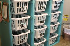 How to build your own laundry basket dresser.
