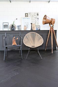 Novilon vtwonen - zwart, grijs, hout - Black Forest W66121