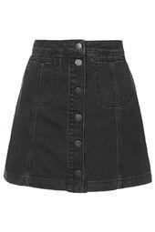 TALL MOTO Black Button Front Skirt