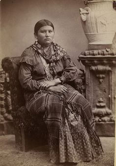 Ernest L. Hoppe - Kansas Kickapoo Indian Woman. 1880