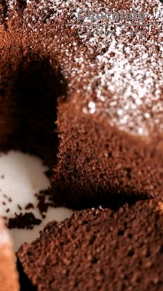 This show-stopping Chocolate Chiffon Cake is super-moist, fluffy, airy, and bouncy all at once! With a rich chocolate flavor, this chiffon cake recipe will soon Fluffy Chocolate Cake, Chocolate Chiffon Cake, Super Moist Chocolate Cake, Baking Recipes, Cake Recipes, Dessert Recipes, Cake Flour Recipe, Moist Chiffon Cake Recipe, Health Desserts