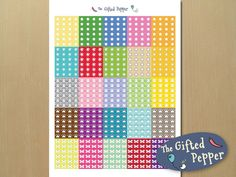 Erin Condren planner stickers, printable checklist stickers with cute check boxes [instant download]