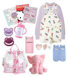 """ABDL Littlespace"" by milkumi on Polyvore featuring Michael Kors, STELLA McCARTNEY, Forever 21, Kate Spade, Pusheen and Hello Kitty"