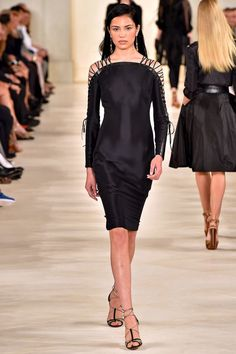 Reminds me of my 2010 tshirt I made like this. Ralph Lauren Collection Spring 2015