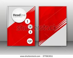 design vector template layout for magazine brochure flyer booklet cover annual report in A4 size.