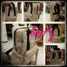 Back pack with materiN Gunny sack. Backpacks, Canvas, Bags, Tela, Handbags, Backpack, Canvases, Backpacker, Bag