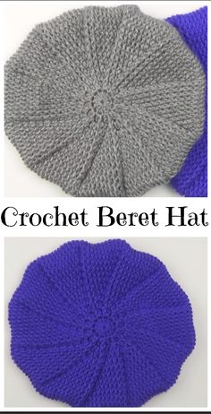 Crochet Pattern No. Crochet Beret Pattern (Toddler, Child, And Adult Sizes) Knitting Ideas Beret - Diy Crafts - DIY & Crafts Crochet Beret Pattern, Crochet Beanie Hat, Crochet Stitches, Knitted Hats, Knitting Patterns, Crochet Patterns, Crochet Hats, Crochet Ideas, Crochet Accessories