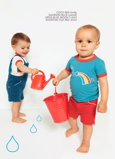 Blue Aroson T-shirt with rainbow - Dis Une Couleur