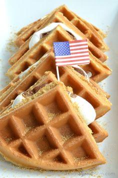 S'mores Waffles Reci