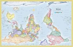 The true size of africa an erroneous map misled us for 500 years upside down map a strange but awesome thought gumiabroncs Image collections