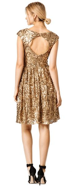 Glitzy gold dress