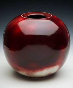 Pottery by Malcolm Greenwood (Australia)  Wonderful deep red glaze.