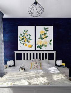 Navy bedroom decor