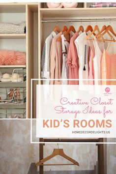 Children accumulate a lot of things. Because they grow so quickly, clothing storage can easily become a problem for a lot of parents. You may be at a loss for how you can optimize your current storage space or expand its capacity. #home #kids #closet #decor #home #homedecor Kids Storage, Closet Storage, Closet Organization, Storage Spaces, Organization Ideas, Storage Ideas, Nursery Organization, Creative Storage, Organizing
