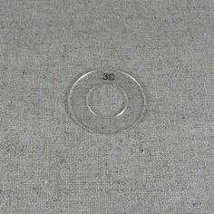 Gabarit de découpe du tissu et de centrage d'un motif Google Home, Template, Pattern, Fabric