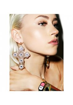 #DollsKill #Luxe #Cross #Earrings #grunge