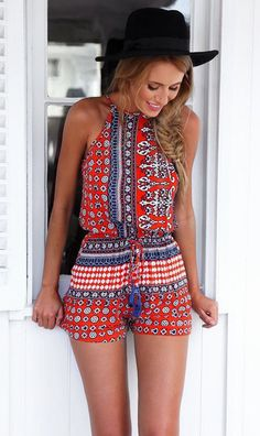Overview: Bohemian Style Playsuit is casual sexy and perfect to wear on the…