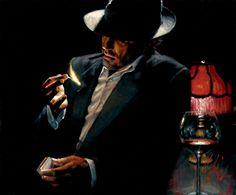 Man_lighting_Cigarette_II.jpg 968×800 pixels Hanging over fireplace