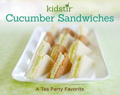 Looking for a fancy finger food for a tea party? Serve up a platter of these classic sandwiches. Cucumber Tea Sandwiches, Tea Party Sandwiches, High Tea Food, Sandwich Ingredients, Foods With Gluten, Dinner Recipes For Kids, Cooking With Kids, Tea Recipes, Food Lists