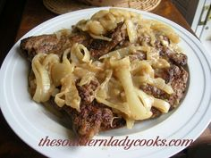 BEEF LIVER SMOTHERED WITH ONIONS