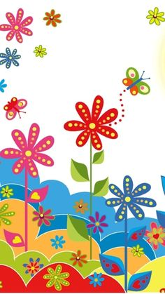 Spring Flowers iPhone Wallpaper