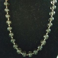 BARSE smokey quartz & sterling necklace**NEW** Beautiful BARSE sterling silver beads in between  faceted smokey quartz beads. Stones are faceted so beautifully that when light hits them they light up. They are abt 14mm in size each .  Lobster clasp closure Length is 26 inches Barse Jewelry Necklaces