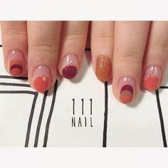 ➰〰➰ #nail#art#nailart#ネイル#ネイルアート #ワイヤーネイル#バルーンフレンチ#cute#brown#nailsalon#ネイルサロン#表参道#ワイヤー111