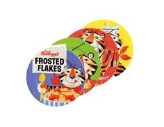 Embrace the timeless adventure of Tony the Tiger with this playful plate. Embellished with a colorful scene of a vintage 1951 Tony the Tiger walking while eating his Frosted Flakes, the bold, ageless design is sure to please any Kellogg's fan. High fired for durability and a lifetime of... - http://kitchen-dining.bestselleroutlet.net/product-review-for-kelloggs-tony-the-tiger-toast-plate-multicolor-set-of-4/