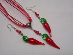 Valentine Red Hot Chili Pepper Earrings and by paulandninascrafts, $12.99