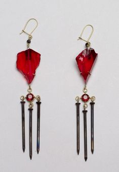 philip sajet - earrings with nails