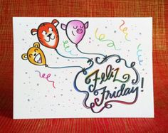 Feliz Friday! card, Cheers to a Happy Friday!