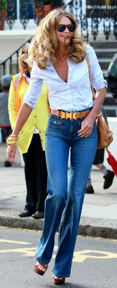 High waisted jeans only look good for that body type... A girl can dream though.