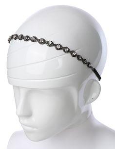 LE3NO Womens Rhinestone Headband with Elastic Band