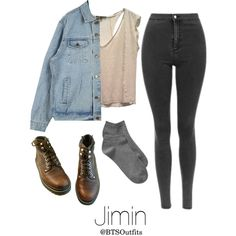 Horseback riding with Jimin by btsoutfits on Polyvore featuring Maje and Gap