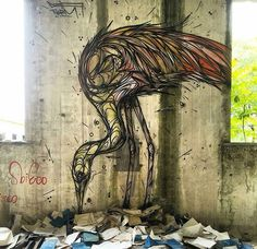 New Street Art by Dzia in Italy. #streetart