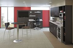 Nice for a doctor's lounge or in dorm apartments...hmmm or lunch areas or cafe spots