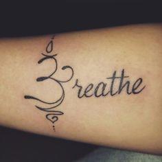 Just breathe? – tattoos for women meaningful Tattoo Motive, Symbol Tattoos, Wrist Tattoos, Tattoo You, Body Art Tattoos, Sleeve Tattoos, Tattoo Quotes, Tatoos, Just Breathe Tattoo