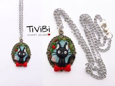 Jiji cameo necklace by TiViBi on Etsy