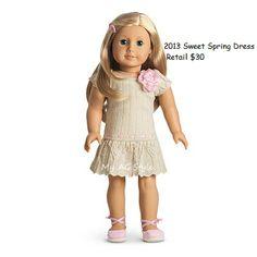 American Girl Doll Brand Sweet Spring Dress