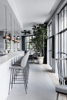 Kitchen stool: Gubi // Beetle Stool at The Standard, Copenhagen available via Cult