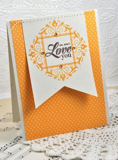 How I Love You Card by Dawn McVey for Papertrey Ink (July 2013)