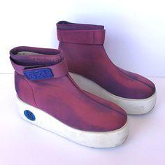 90s Chunky Purple Power Platform Boots by lactoseintolerart, $55.00