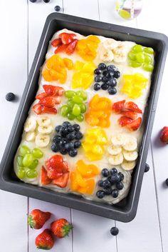 Obstsalat Blechkuchen - Blechkuchen mit Früchten