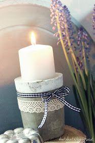 Was man nicht alles aus Beton machen kann. Den Anfang mach ich mal mit einfachen Kerzenständern. Man kann aus unterschiedlichen Formen ...