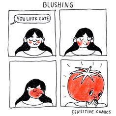Blushing. Sonrojar. Vergüenza