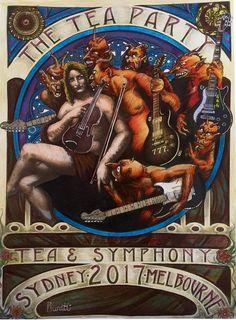 "Robert Buratti ""Tea & Symphony"" pen and pencil on paper"
