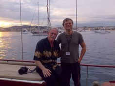 """Cannes Film Festival 2008 auf der SWELL vor dem Hafen von Cannes: Stephen M. Katz  known as cinematographer of """"Blues Brothers"""" and """"Gods and Monsters"""" Cannes Film Festival, Blues Brothers, All Over The World, Venice, In This Moment, Travel, Movie, Viajes, Destinations"""
