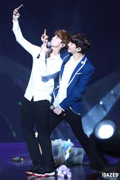 Luhan and Chanyeol | 140718 The Lost Planet in Shanghai