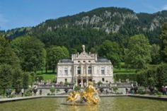 Linderhof Palace in Bavaria, Germany. Built under the direction of and for King Ludwig II of Bavaria between 1863 and It is the smallest of the three palaces built by King Ludwig II of Bavaria and the only one which he lived to see completed. Linderhof Palace, Parks, Great Thinkers, Royal Residence, Ludwig, Largest Countries, Central Europe, Germany Travel, Places To Go
